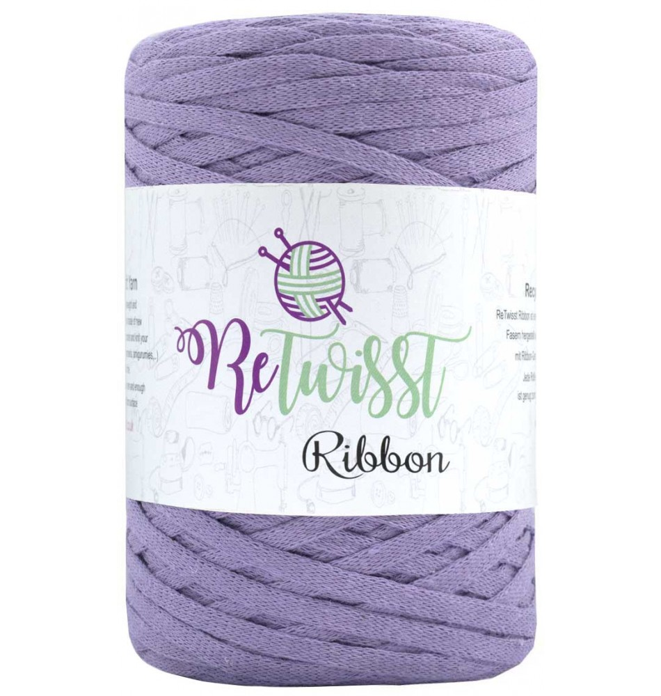 Retwisst Ribbon Garn Lyslilla 20