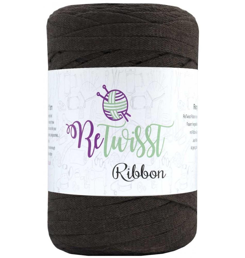 Retwisst Ribbon Garn Medium Brun 11
