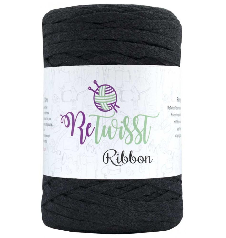 Image of   Retwisst Ribbon Garn Mørkegrå 05