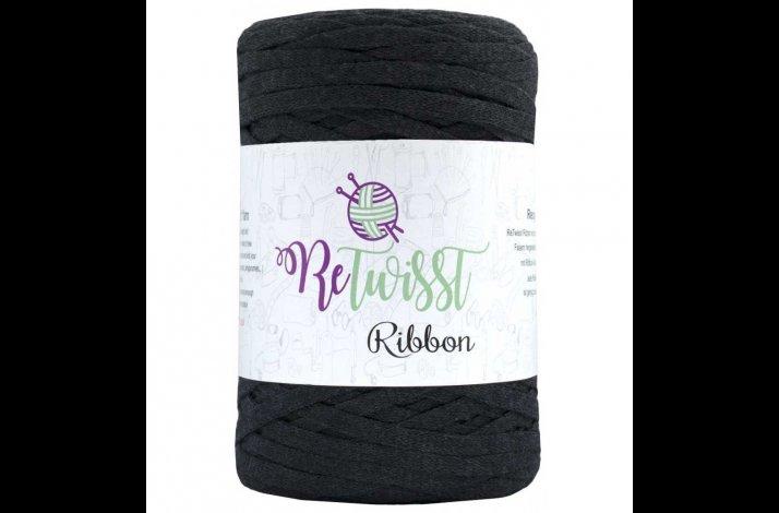 Retwisst Ribbon Garn Mørkegrå 05