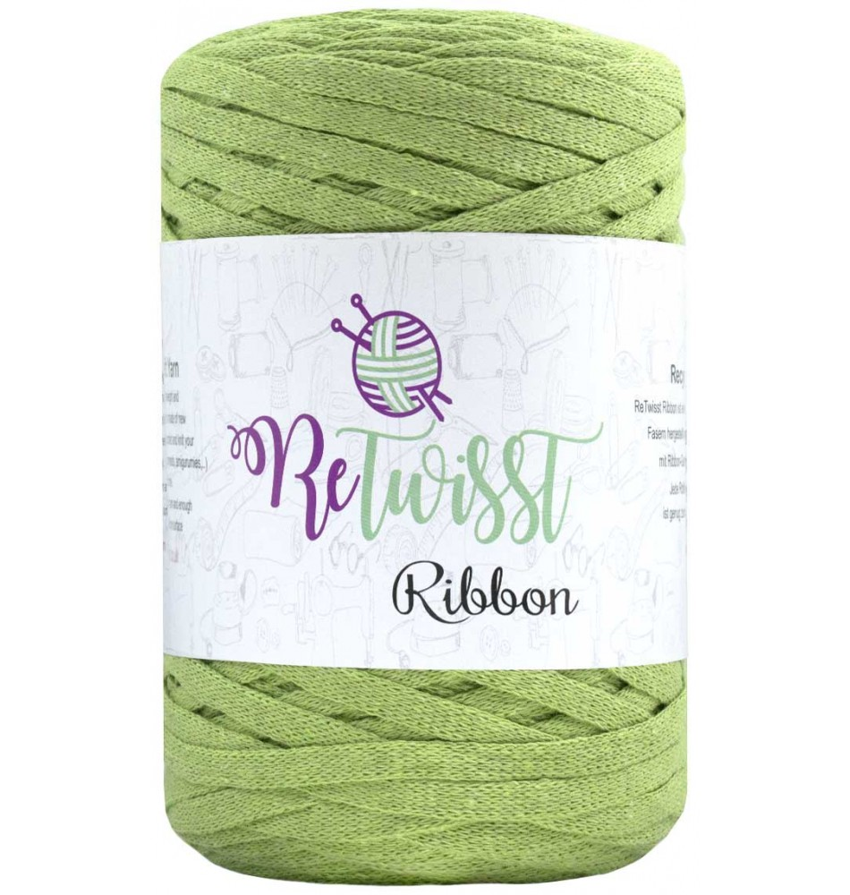 Retwisst Ribbon Garn Pistacie 14