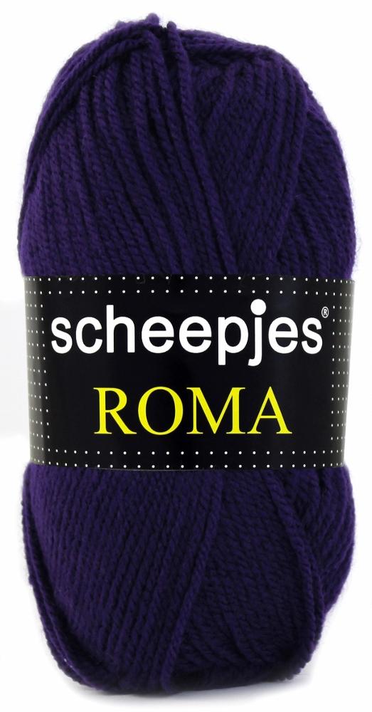 Scheepjeswol roma scheepjes roma mørke lilla fra N/A fra elmelydesign.dk