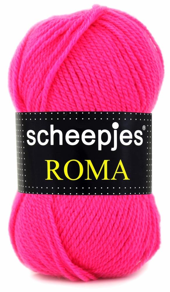 N/A Scheepjeswol roma scheepjes roma neon pink på elmelydesign.dk