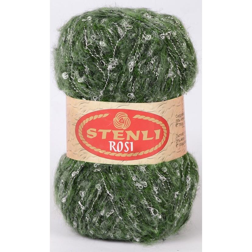 Rosi mohair & boucle 100 gram Grøn Meleret 09