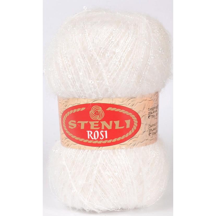 Rosi mohair & boucle 100 gram Hvid 57