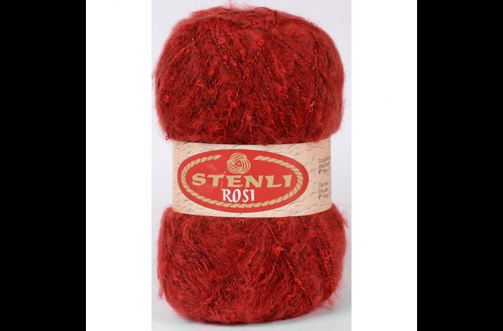 Rosi mohair & boucle 100 gram Roed 08