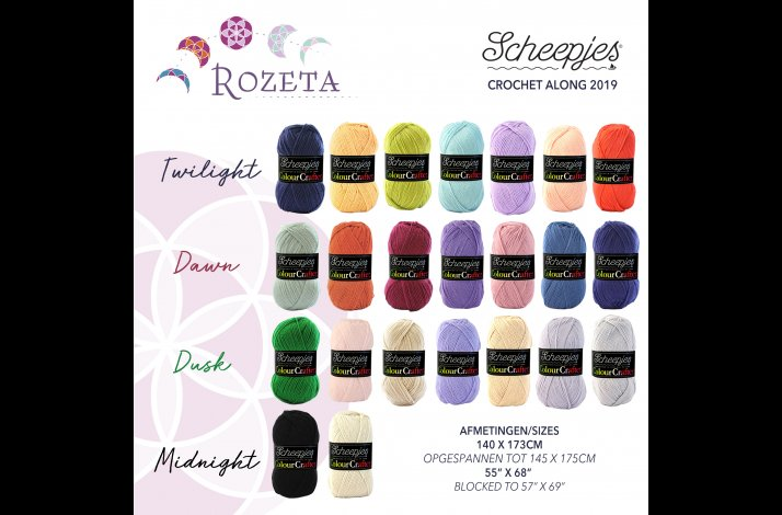 Scheepjes CAL 2019 Rozeta Colour Crafter Kits