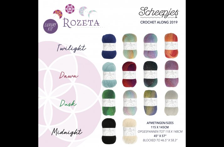 Scheepjes CAL 2019 Rozeta Our Tribe Luxury Kit