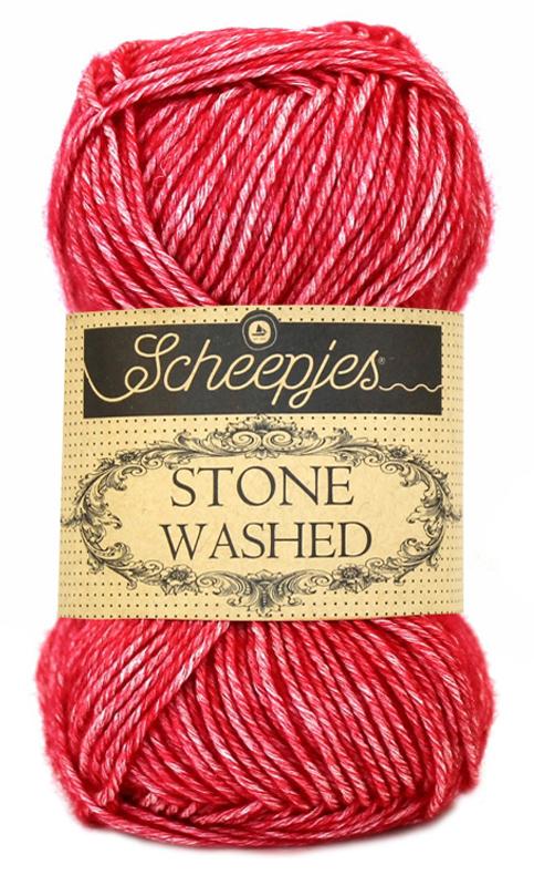 Stone washed fra scheepjes red jasper 807 fra N/A fra elmelydesign.dk