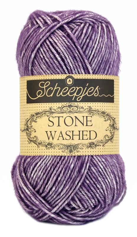 N/A Stone washed fra scheepjes deep amethyst 811 på elmelydesign.dk