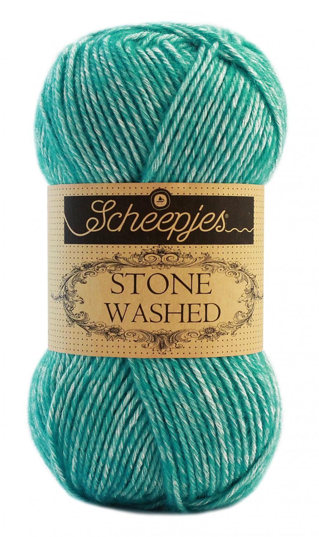 N/A Stone washed fra scheepjes turquoise 824 fra elmelydesign.dk