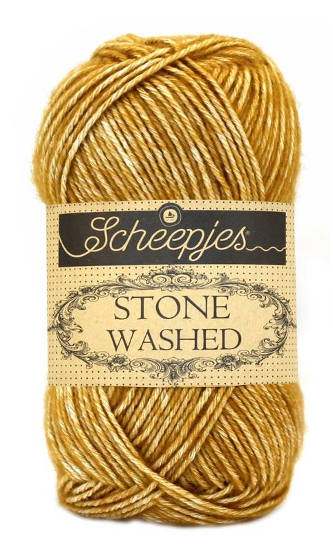 N/A Stone washed fra scheepjes yellow jasper 809 fra elmelydesign.dk