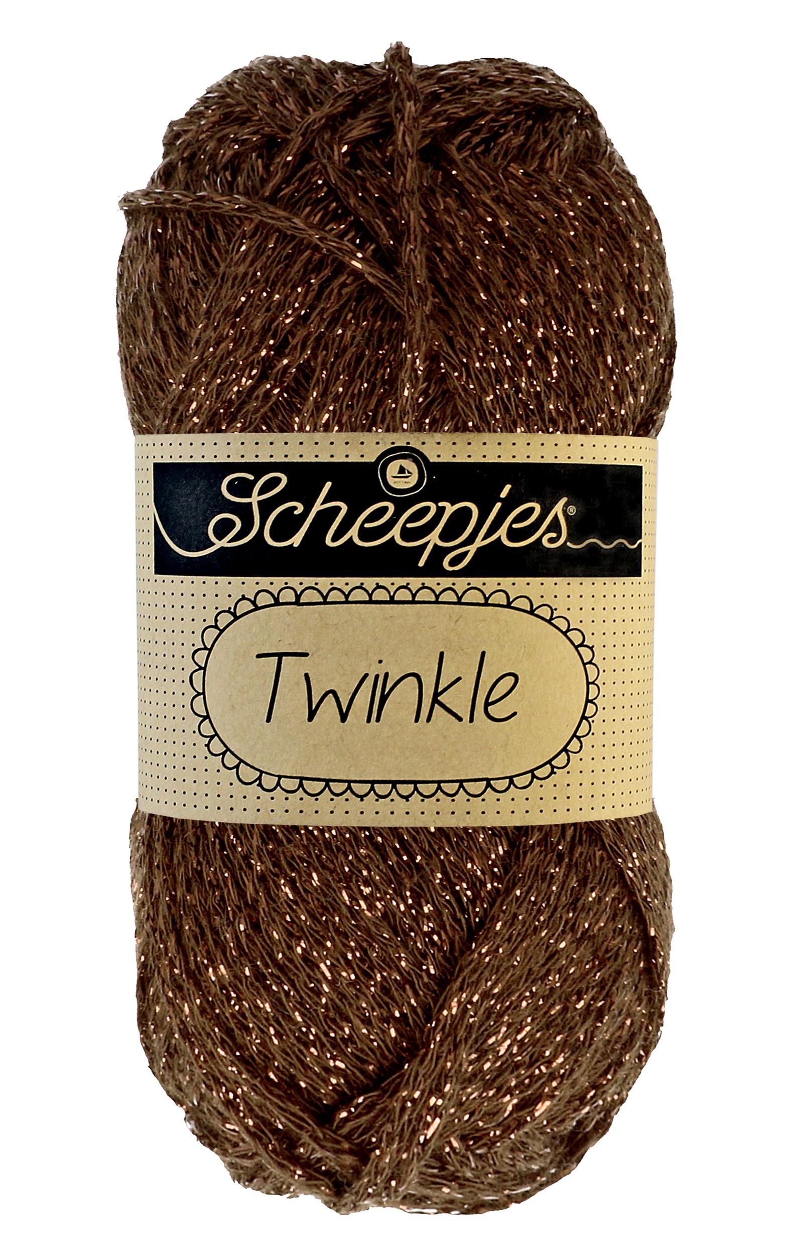 Image of Twinkle garn med glimmer og glitter warm brown 939