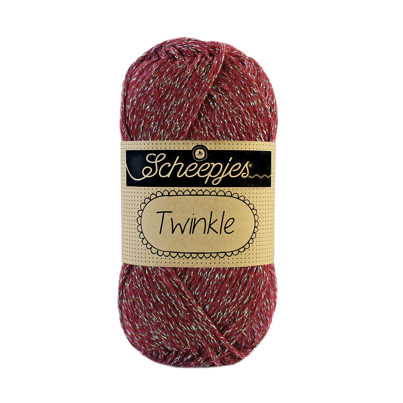 Image of Twinkle garn med glimmer og glitter bordeaux 932