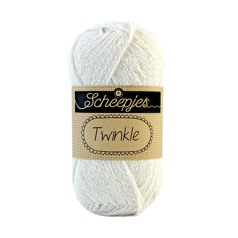 Image of Twinkle garn med glimmer og glitter cream 913