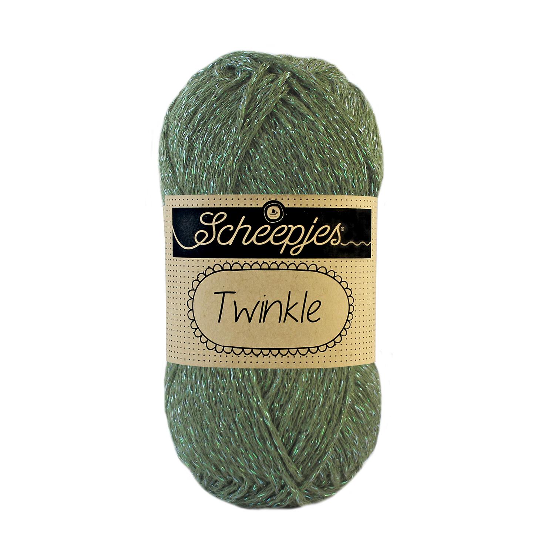 Image of Twinkle garn med glimmer og glitter olive 931