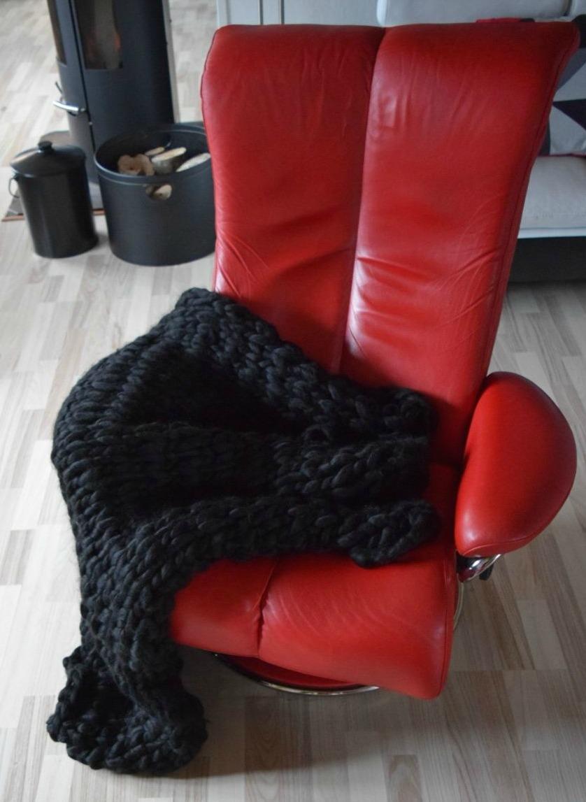 N/A Chunky tæppe kit strikket på pinde 25 mm på elmelydesign.dk