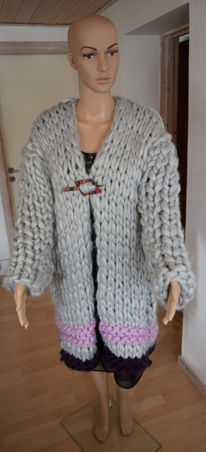 N/A – Chunky jakke / cardigan strikkekit i størrelse xxl/xxxl fra elmelydesign.dk