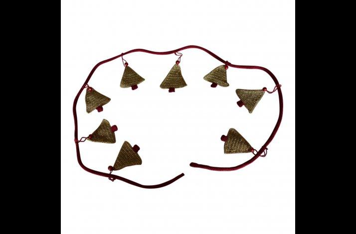 Hækleopskrift Guilande med juletræer