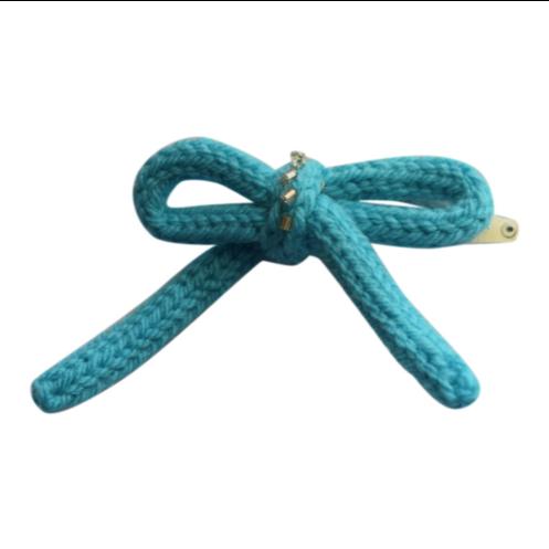 N/A – Strikket hårspænder med perler 2 stk strikkekit fra elmelydesign.dk