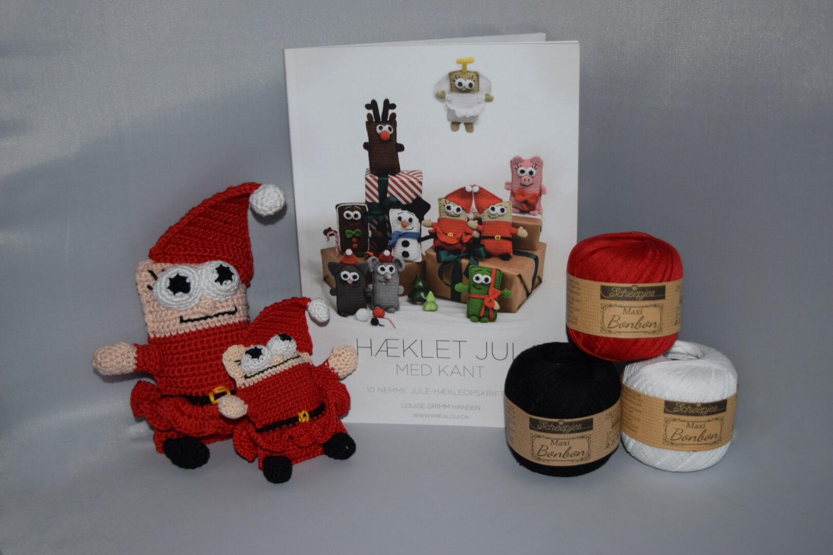 Billede af Hæklet jul med kant og Maxi Sweet Treat garnpakke