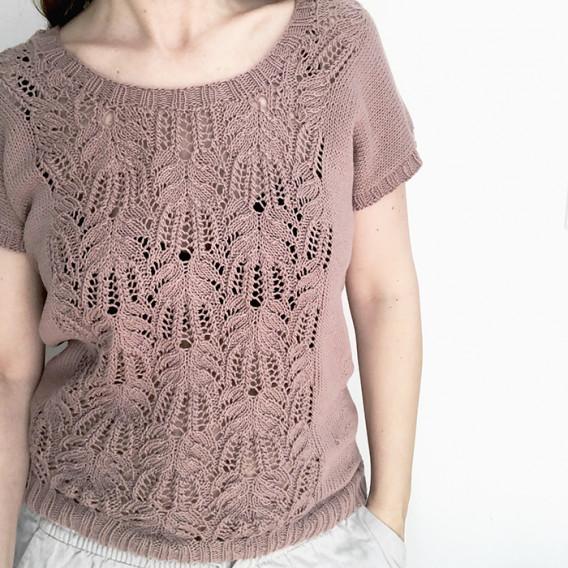 Image of Garnpakke Celine Sommertop Strikket i Organic Cotton fra Krea De Luxe L - XL