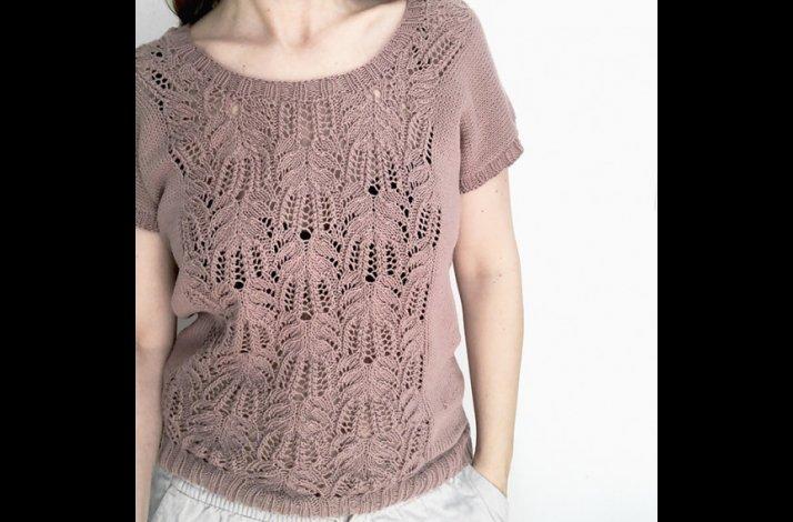 Garnpakke Celine Sommertop Strikket i Organic Cotton fra Krea De Luxe S-M