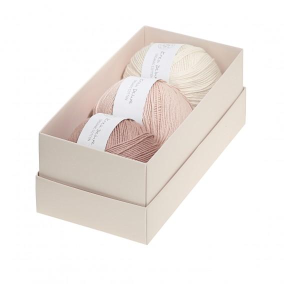 Image of Krea Deluxe Gaveæske med 3 nøgler valgfri organic cotton GOTS certificeret