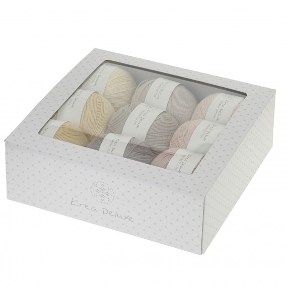 Image of Krea Deluxe Gaveæske med 9 nøgler valgfri organic cotton GOTS certificeret
