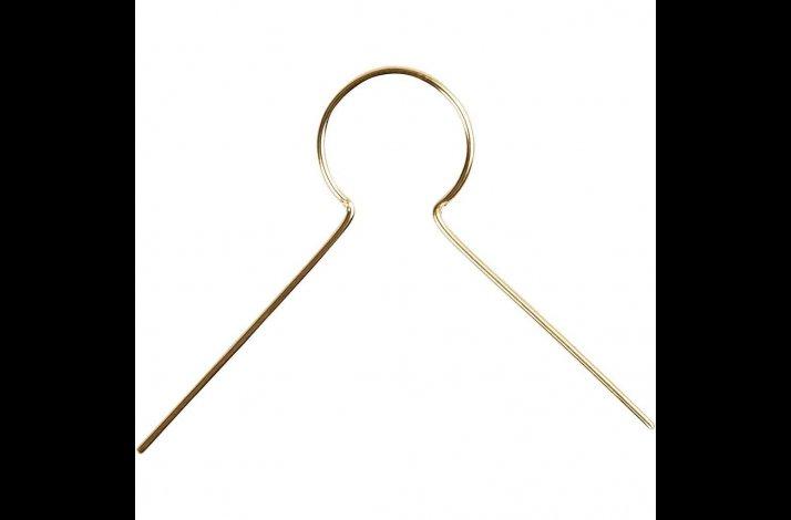 Ophæng, L: 22 mm, hulstr. 8 mm, forgyldt, stykvis