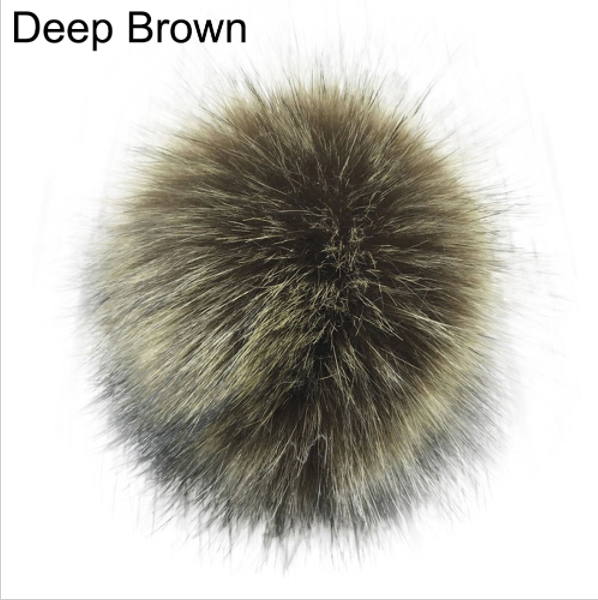 Image of Pompon 14 cm Brun