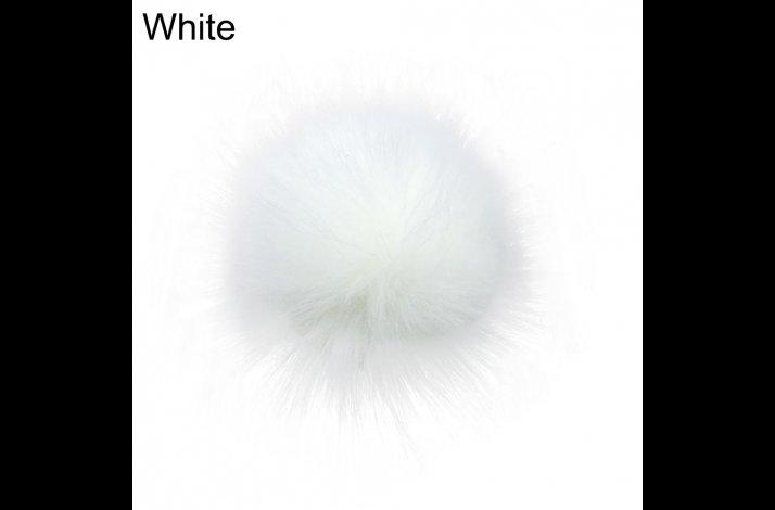 Pompon 14 cm Hvid