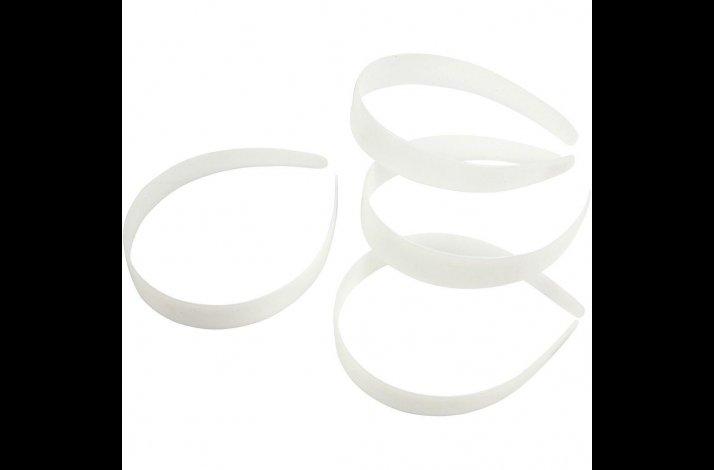 Hårbøjle 25 mm bred, hvid