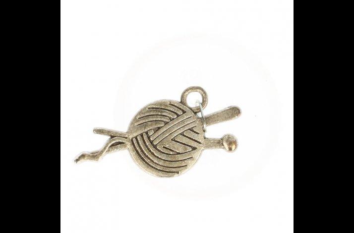 Garnnøgle emblem i sølvfarvet
